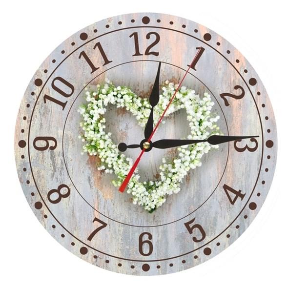 """Часы настенные """"Цветочное сердце"""" - фото 13429"""