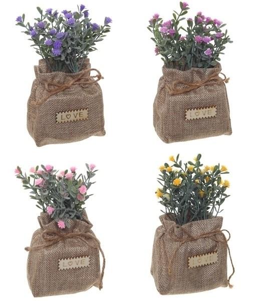 Цветы искусственные в мешочке в ассортименте - фото 13442