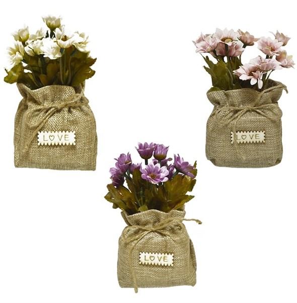 Искусственные цветы в мешочке в ассортименте - фото 13444