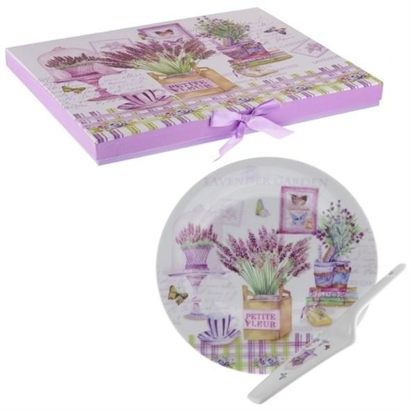 """Блюдо с лопаткой  """"Лаванда"""" в подарочной упаковке - фото 13721"""