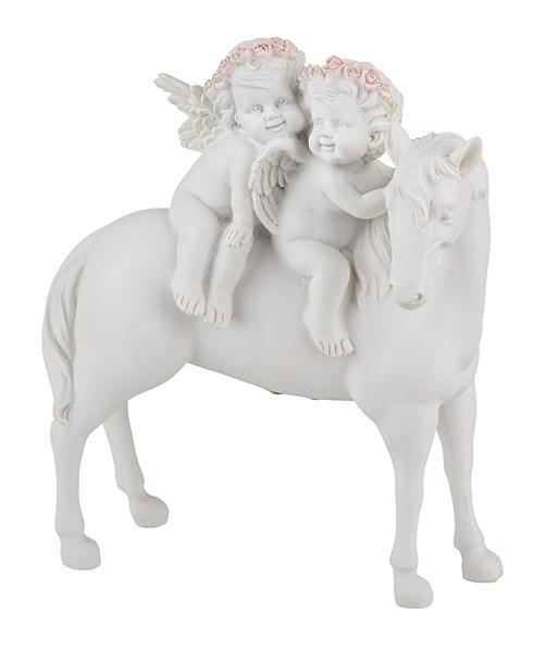 "Статуэтка ""Ангелы на лошади"" - фото 13850"