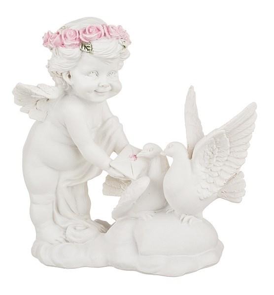 """Статуэтка """"Ангел с голубями"""" - фото 13972"""