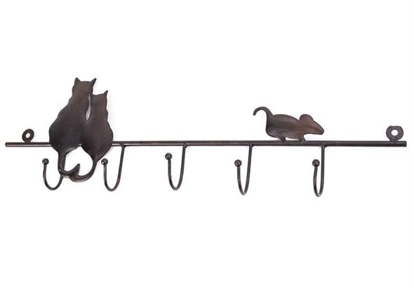 """Вешалка настенная """"Кошки и мышка"""" - фото 13999"""