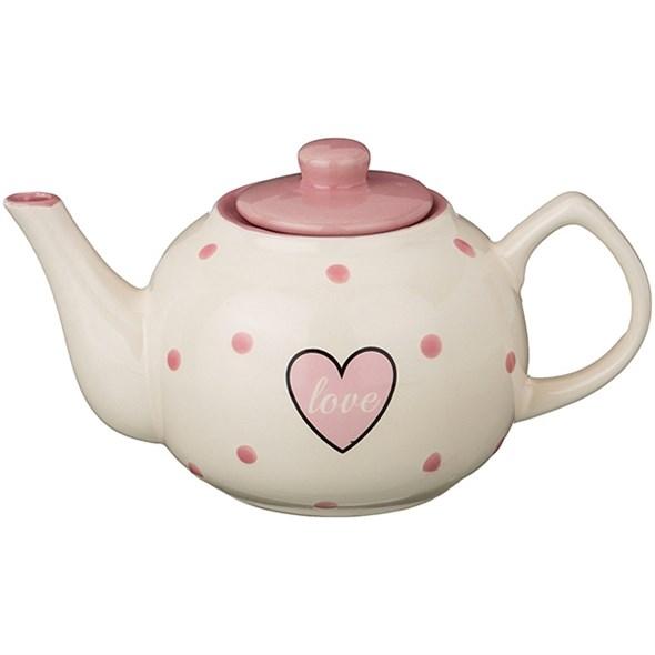 """Чайник заварочный """"Сердце"""" 860 мл розовый - фото 14070"""
