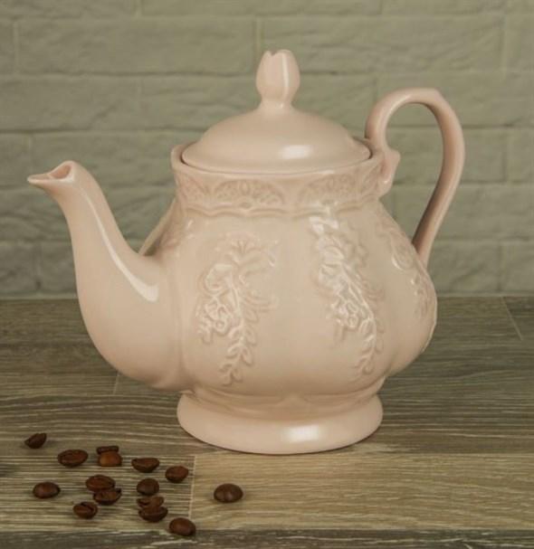 """Чайник заварочный """"Лоза"""" 570 мл розовый - фото 14092"""