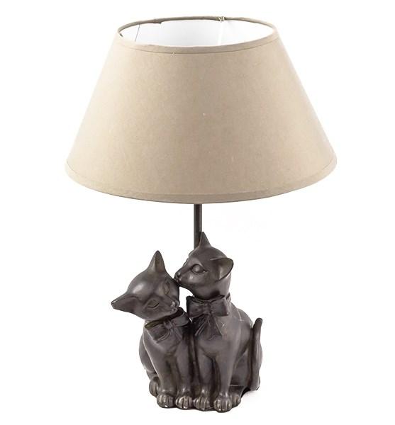 """Лампа настольная """"Две кошки"""" - фото 14144"""