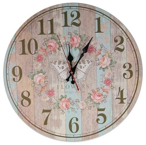 "Часы настенные ""Винтажные цветы"" - фото 14241"