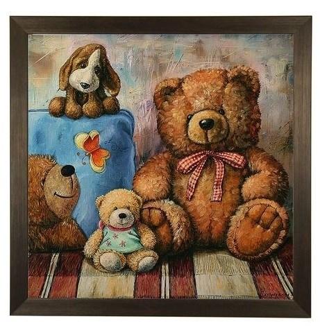 """Картина в раме """"Четыре друга"""" - фото 14245"""