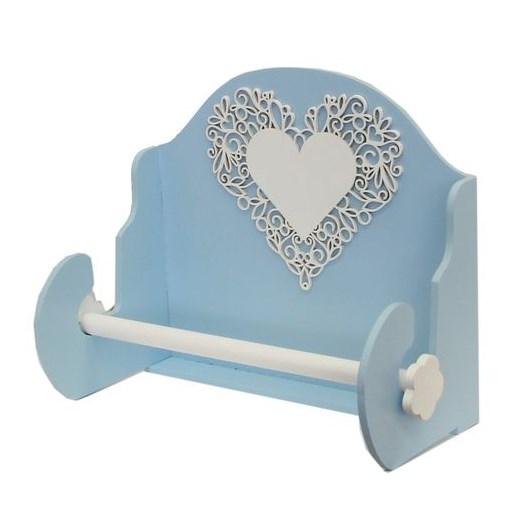 Держатель для полотенец голубой - фото 14250