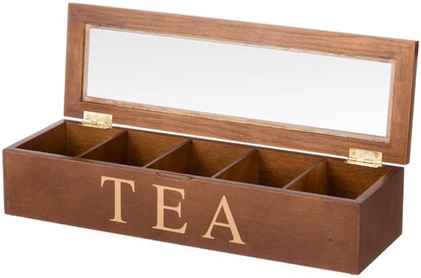 Шкатулка на чайных пакетиков на пять отделений - фото 14434