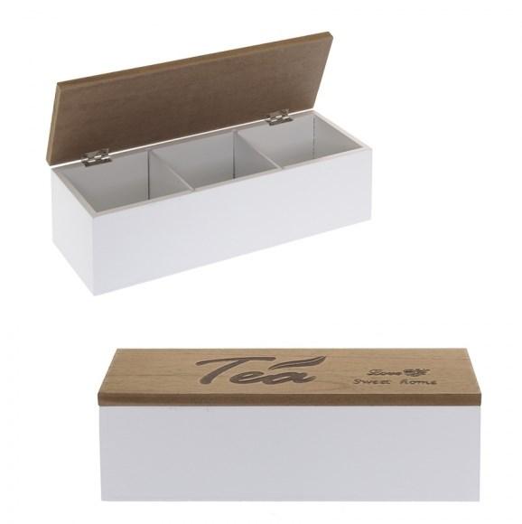 Шкатулка для чайных пакетиков на три отделения - фото 14460