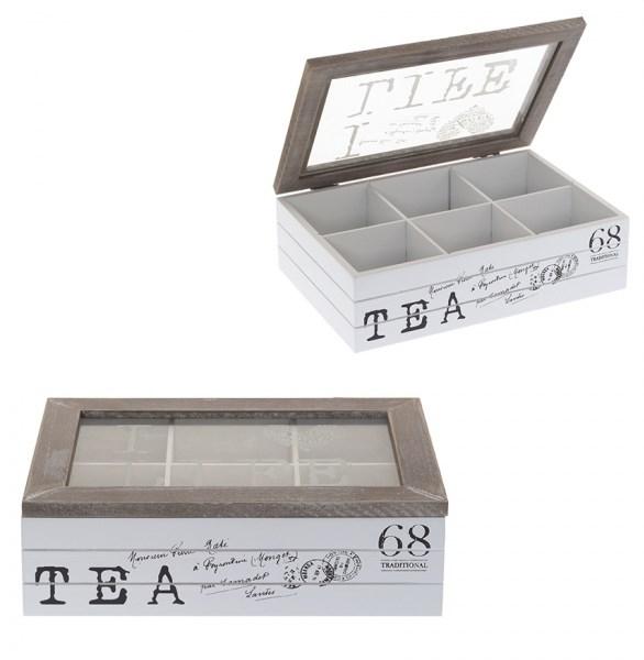 Шкатулка для чайных пакетиков на шесть отделений - фото 14464