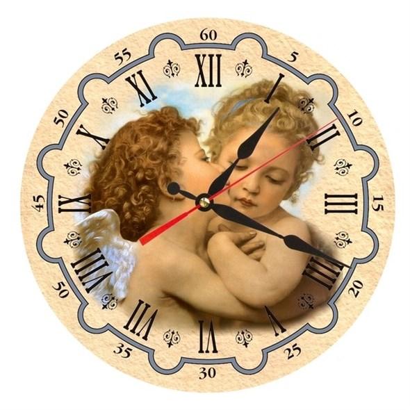 """Часы настенные """"Влюбленные ангелки"""" - фото 14840"""