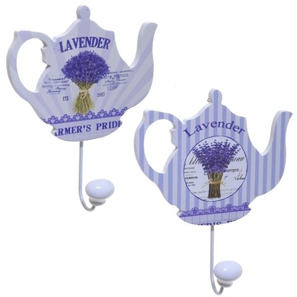 "Крючок ""Лавандовый чайник"" в ассортименте, цена за 1 шт - фото 15138"