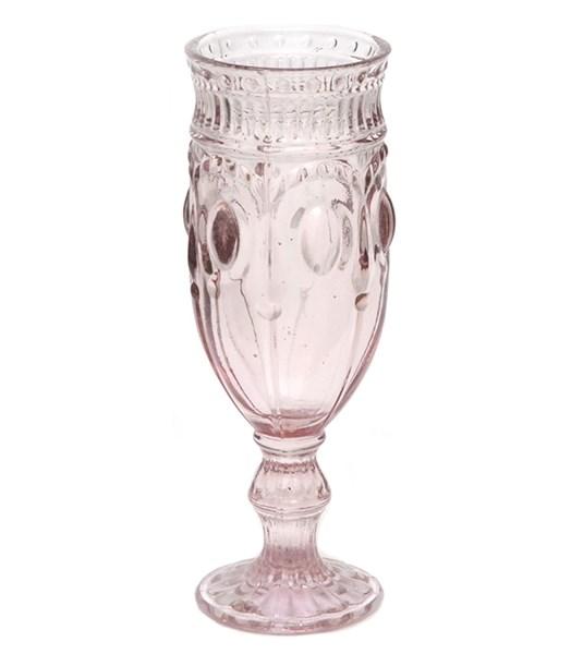 """Бокал """"Самоцвет"""" розовый для шампанского из цветного стекла - фото 15170"""