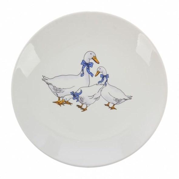 "Тарелка ""Гусиное семейство"" диаметр 19 см - фото 15644"