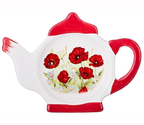 """Подставка для чайных пакетиков """"Маки"""" - фото 15891"""