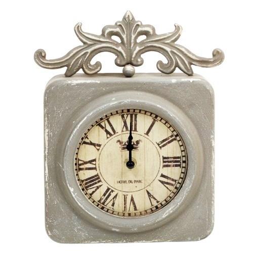 """Часы настенные """"Отель Париж"""" серые - фото 15937"""