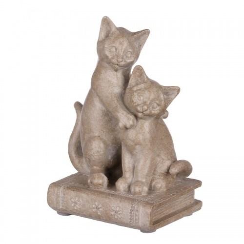"""Статуэтка """"Кошки на книге 9х6,5х13 - фото 15941"""