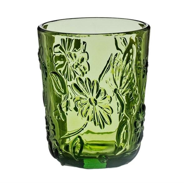 """Стакан """"Марсель"""" зеленый 300 мл из цветного стекла - фото 15968"""