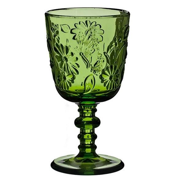 """Бокал """"Марсель"""" зеленый 300 мл из цветного стекла - фото 15971"""
