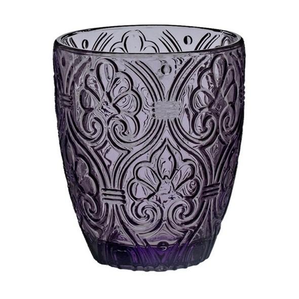 """Стакан  """"Вензеля"""" фиолетовый 320 мл из цветного стекла - фото 15973"""