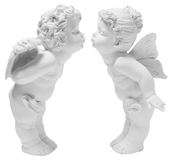 """Набор статуэток """"Ангелы целующиеся большие"""" высота 26 см - фото 15980"""