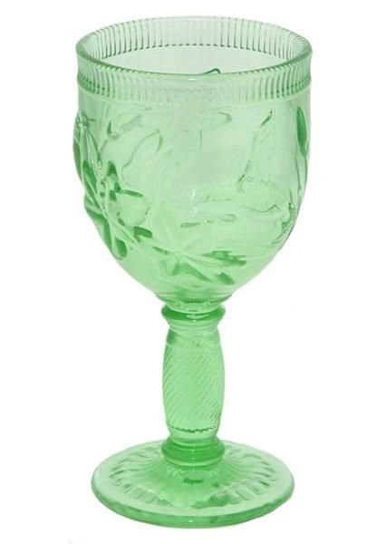 """Бокал """"Птица"""" зеленый из цветного стекла - фото 16014"""