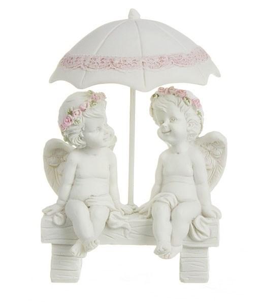 """Статуэтка """"Ангелы под зонтом"""" - фото 16018"""