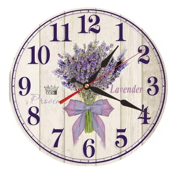 """Часы настенные """"Букет Лаванды"""" - фото 16121"""
