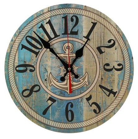Часы настенные в морском стиле - фото 16131
