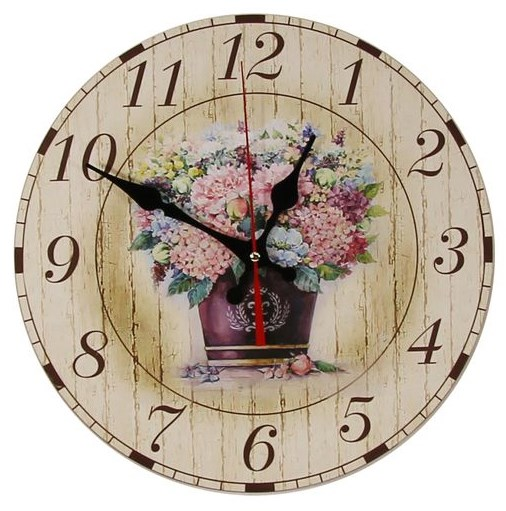 """Часы настенные """"Винтажный букет"""" - фото 16132"""