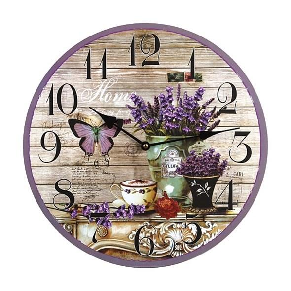 """Часы настенные """"Лавандовый натюрморт"""" - фото 16143"""