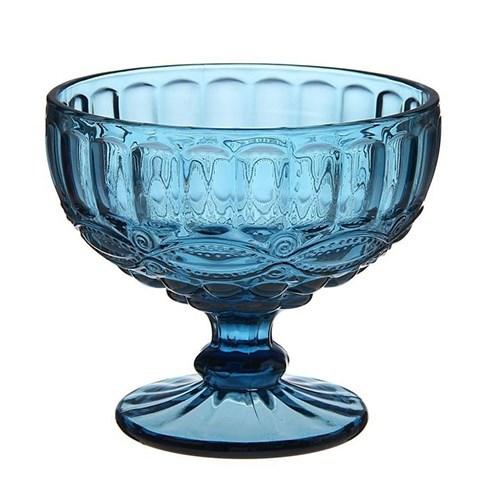 """Креманка """"Франция"""" синяя 300 мл из цветного стекла - фото 16515"""