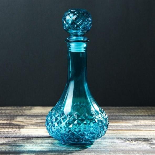 Графин стеклянный 530 мл синий - фото 16642