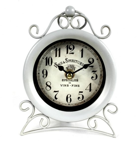 Часы настольные металлические - фото 17010