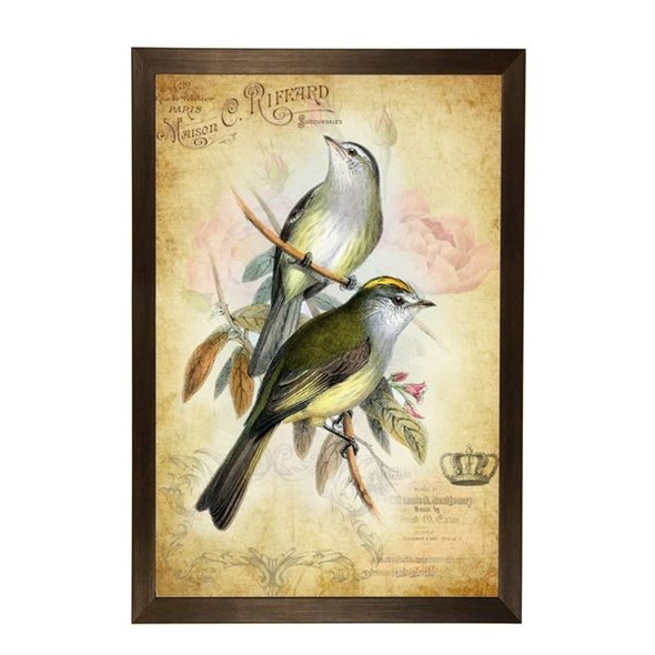 "Постер в раме ""Птицы на ветке"" 33х43 см - фото 17465"