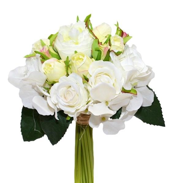 Букет искусственных белых цветов - фото 17569