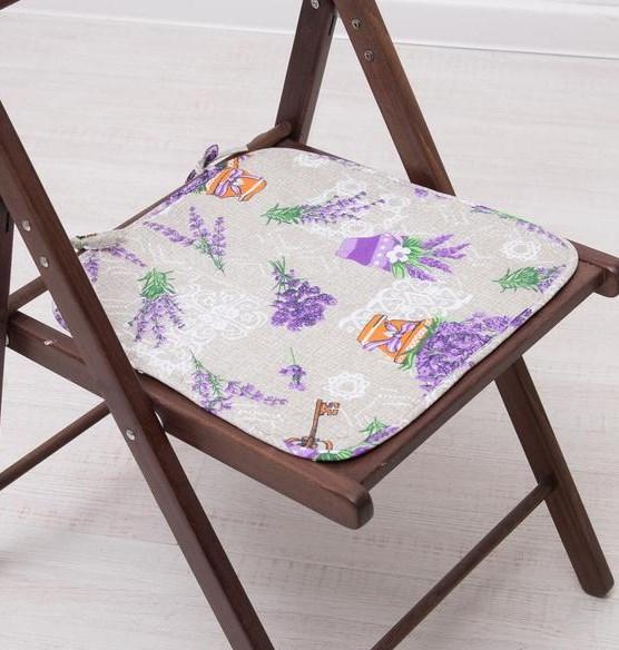 "Подушка на стул ""Букет лаванды"" 35х38 см - фото 17634"