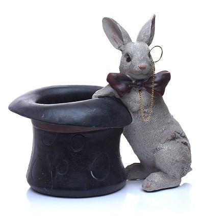 """Статуэтка """"Кролик в шляпе"""" высота 19 см - фото 17734"""