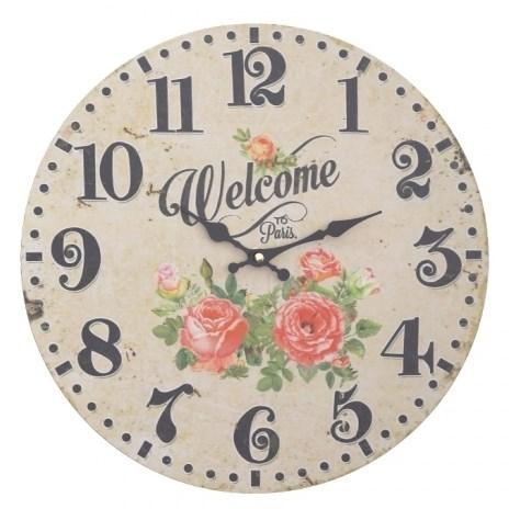 """Часы настенные """"Добро пожаловать в Париж"""" - фото 17844"""