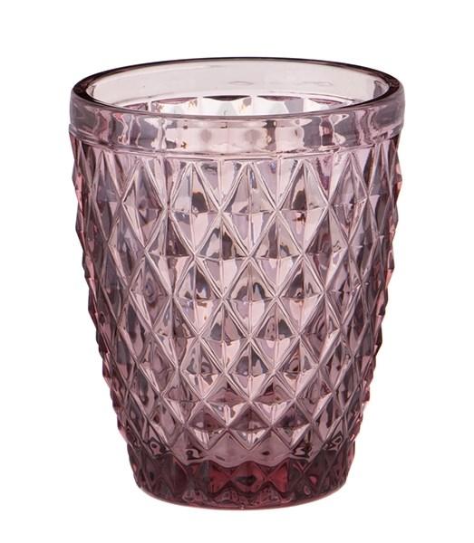 """Стакан """"Венеция"""" розовый 250 мл из цветного стекла - фото 17890"""