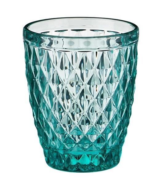"""Стакан """"Венеция"""" бирюзовый 250 мл из цветного стекла - фото 17892"""