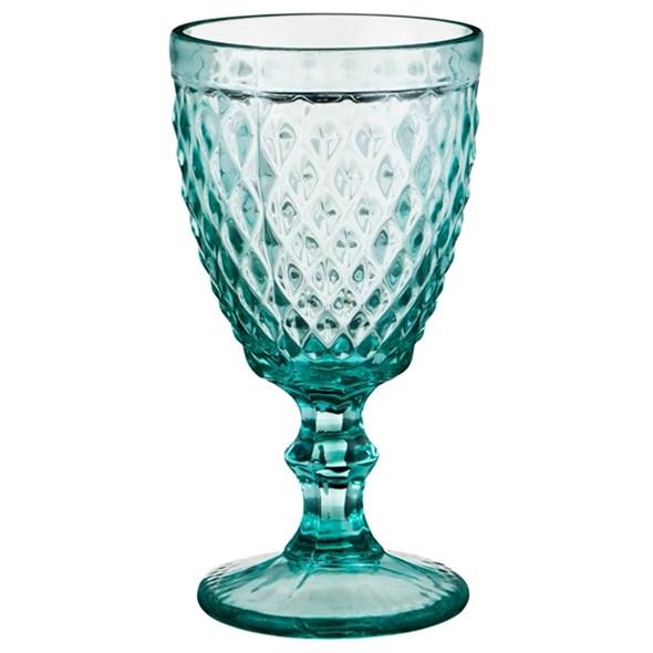 """Бокал """"Венеция"""" бирюзовый 300 мл из цветного стекла - фото 17893"""