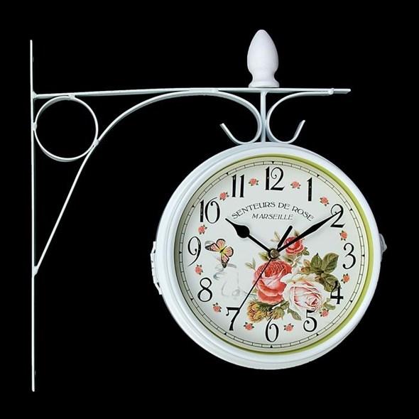 """Часы настенные двухсторонние """"Розы Марселя"""" диаметр 17 см - фото 18165"""