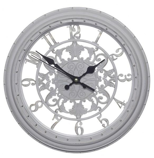 Часы настенные белые диаметр 28 см - фото 18190