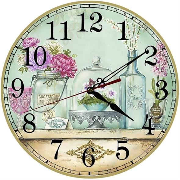 """Часы настенные """"Винтаж"""" в стиле Прованс - фото 18222"""