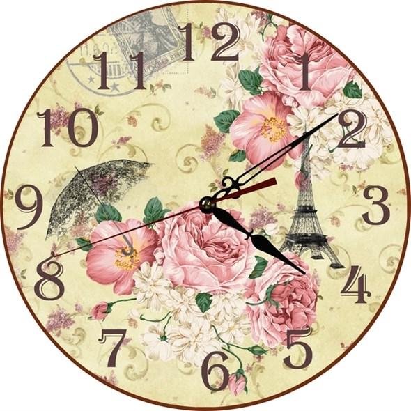 """Часы настенные """"Розы Парижа"""" - фото 18224"""