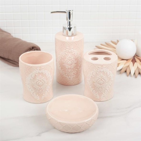 """Набор для ванной комнаты """"Розовая нежность"""" - фото 18396"""
