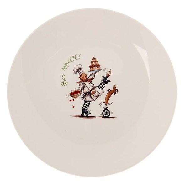 """Тарелка """"Веселый повар"""" 22 см в ассортименте - фото 18433"""